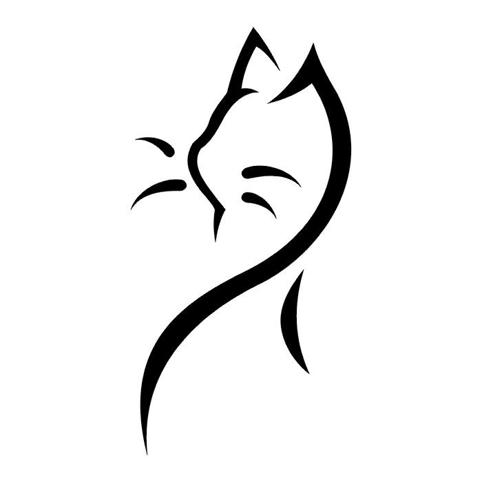Image Af2e0c6e91170a20dafd3e2650c0fc8d Cat Tattoo Black Simple