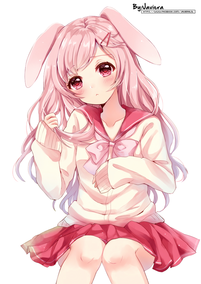 image bunny anime girl render by mikushooter d9zqn4o png animal