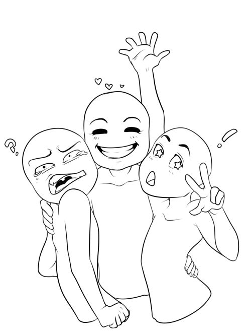 Draw Your Squad Tumblr Pose T Squad Couple
