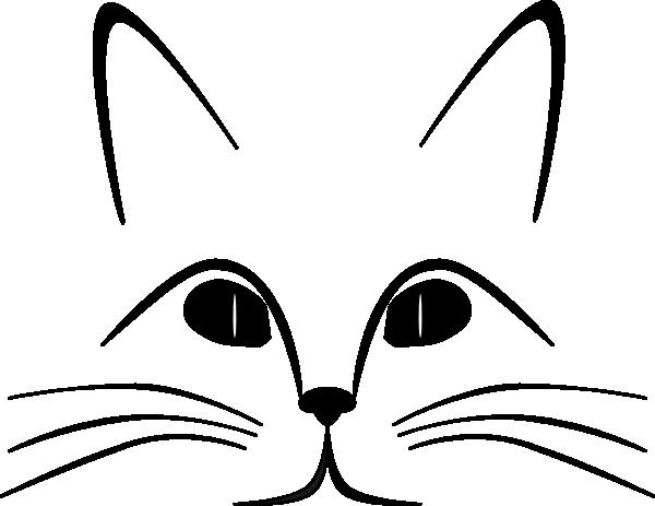 image cat face clip art at clker com vector clip art online rh animal jam clans wikia com cat face clip art black and white cartoon cat face clip art