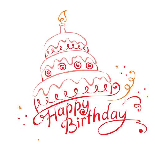 Birthday Cake Vintage Clipart