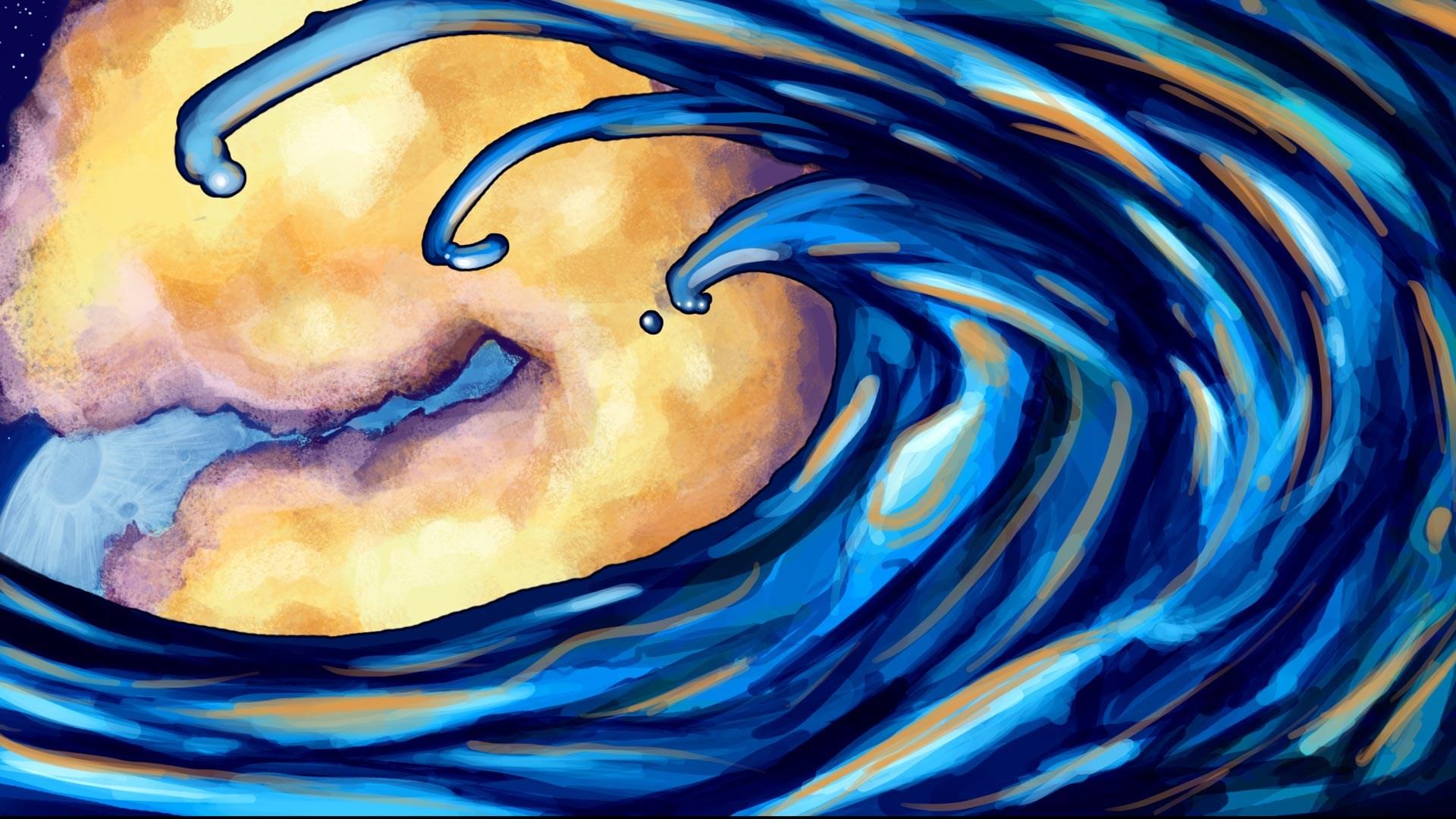 image ocean waves art hd wallpaper jpg animal jam clans wiki