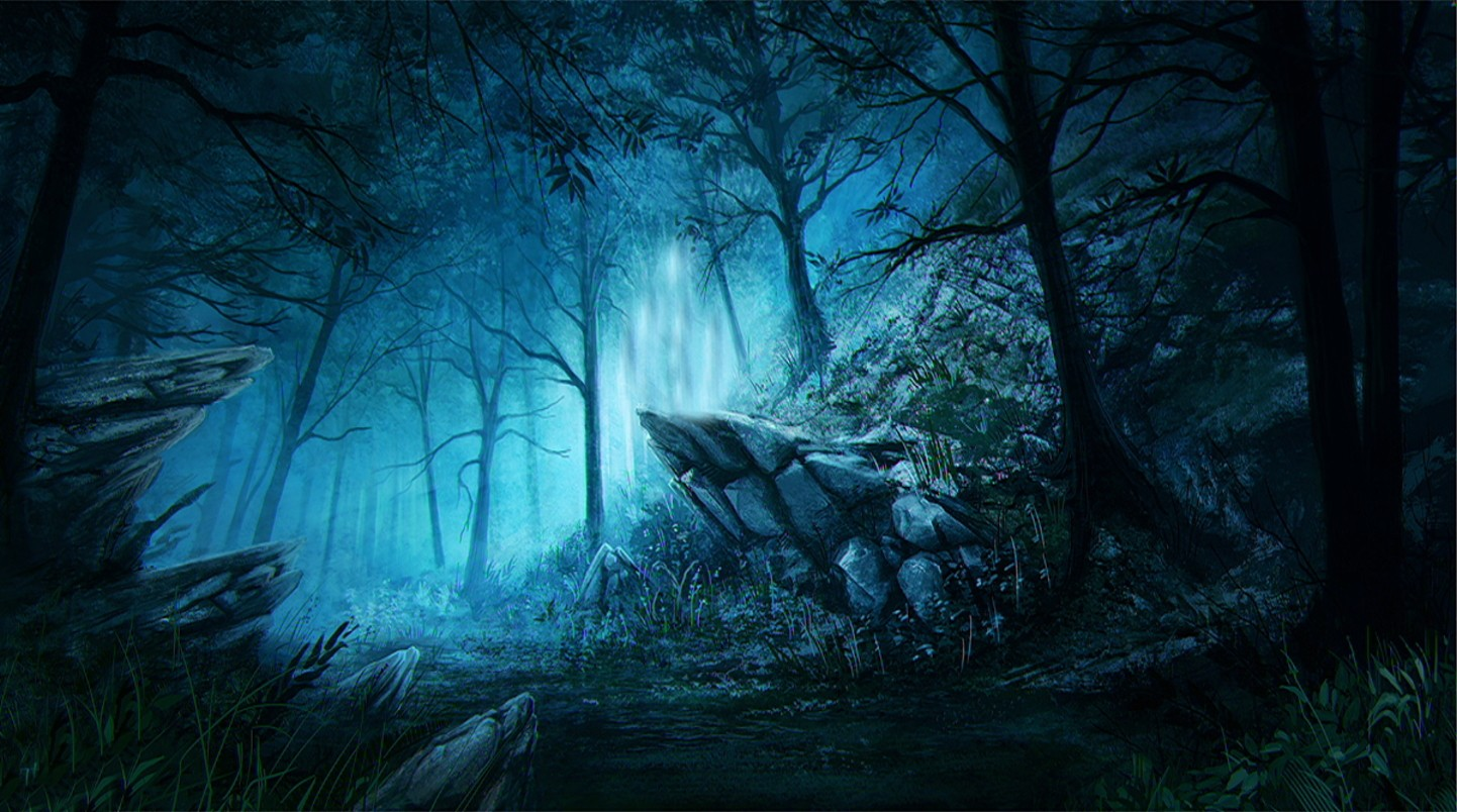 Forest Lovely Beautiful Magical Tree Blue Dark Fantasy Wallpaper Pc 1