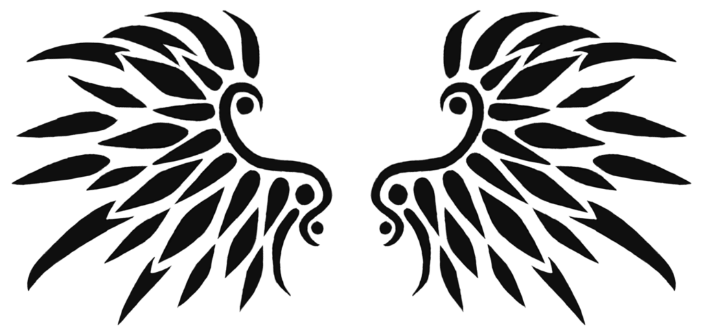 image black wings tattoo design 01 by xarachnofreakx animal jam clans wiki. Black Bedroom Furniture Sets. Home Design Ideas