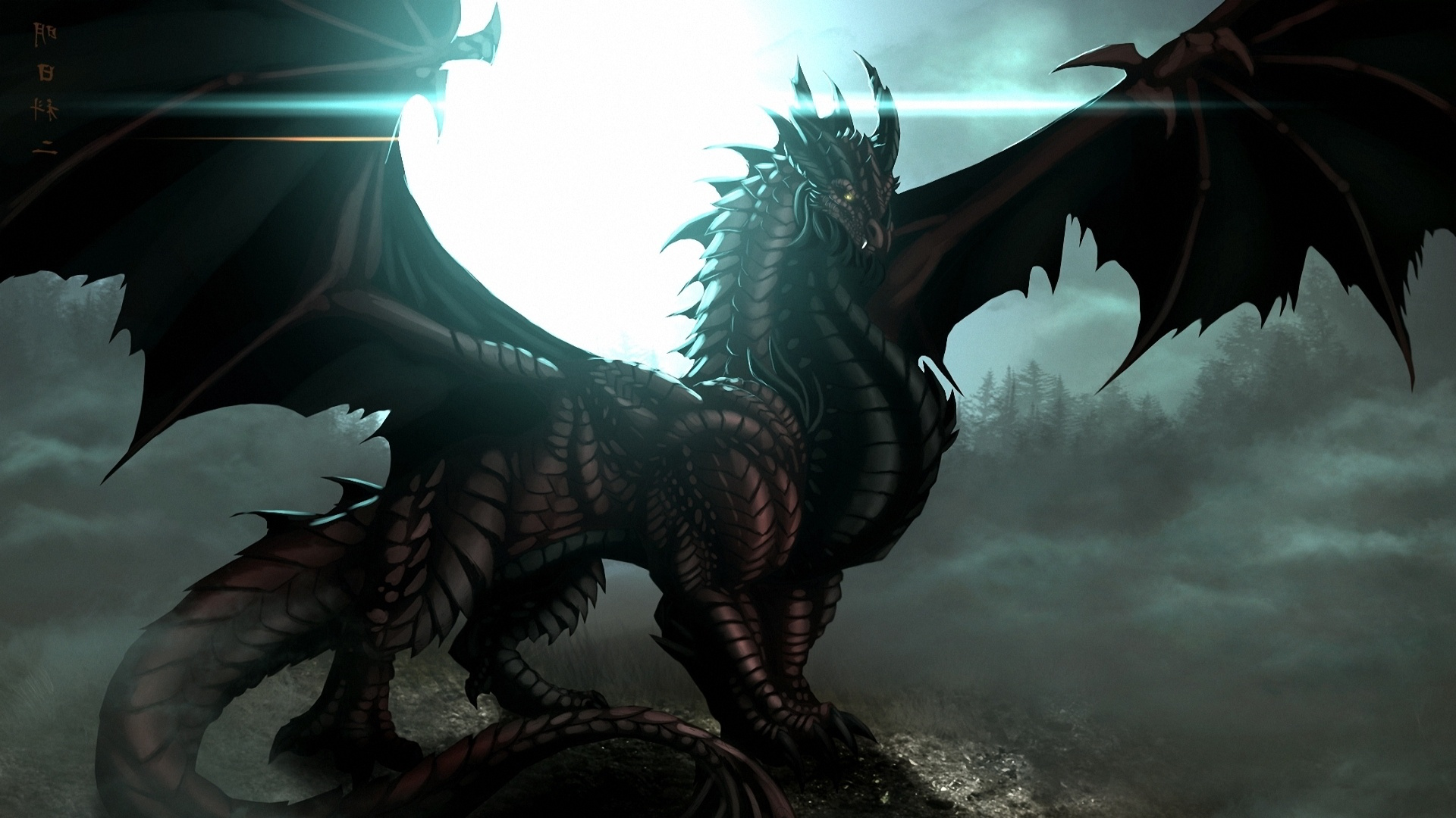Fantasy Black Dragon Wallpaper Hd 2