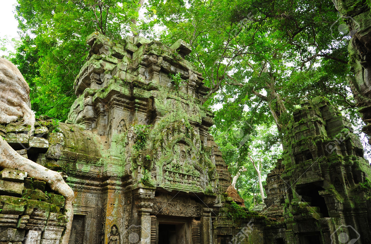Image 23146935 Ancient Ruins Of Ta Prohm Temple In The Jungle Jam Cambodia Stock Photo