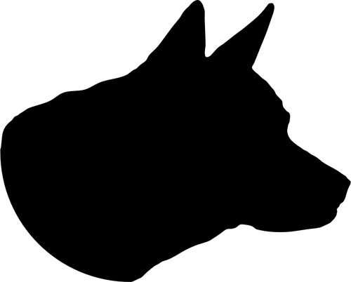 dog head silhouette