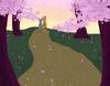 Cherry Blossom Forest Scene