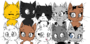 Group of cats base template by izfan4life-d6xm1c2