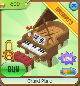 Grand Piano | Animal Jam Collector's Item Worth Wiki