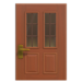 NH-House Customization-vertical-panes door (square)