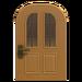 NH-House Customization-maple vertical-panes door (round)