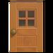 NH-House Customization-maple windowed door (square)