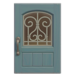 NH-House Customization-pale-blue iron grill door (square)