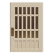 NH-House Customization-white latticework door (square)