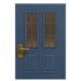 NH-House Customization-blue vertical-panes door (square)