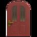 NH-House Customization-red vertical-panes door (round)