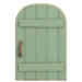 NH-House Customization-light-green rustic door (round)