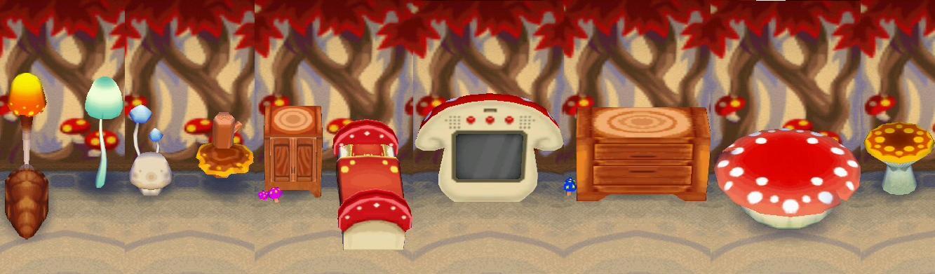 Awe Inspiring Mushroom Series Animal Crossing Wiki Fandom Powered By Wikia Onthecornerstone Fun Painted Chair Ideas Images Onthecornerstoneorg