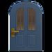 NH-House Customization-blue vertical-panes door (round)