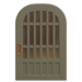 NH-House Customization-gray latticework door (round)
