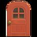 NH-House Customization-windowed door (round)