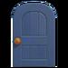 NH-House Customization-blue wooden door (round)