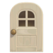 NH-House Customization-white windowed door (round)