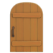 NH-House Customization-maple rustic door (round)