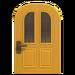 NH-House Customization-yellow vertical-panes door (round)