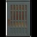 NH-House Customization-blue latticework door (square)