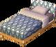 Beige alpine bed