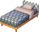 Beige alpine bed