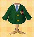 Green emblem blazer
