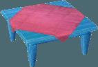 Light blue table