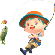 Animal-Crossing-New-Horizons Characters-Fishing
