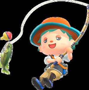 Animal-Crossing-New-Horizons Characters-Fishing