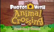 Photos with Animal Crossing EU title screen