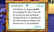 Rules of Aquaius