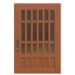 NH-House Customization-brown latticework door (square)