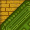 Flooring green rug