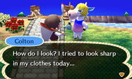 Colton Showing Off His Clothes