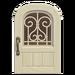 NH-House Customization-white iron grill door (round)