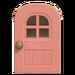NH-House Customization-pink windowed door (round)