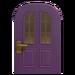 NH-House Customization-purple vertical-panes door (round)