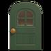 NH-House Customization-green windowed door (round)