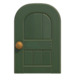 NH-House Customization-green wooden door (round)