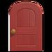 NH-House Customization-red wooden door (round)