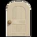 NH-House Customization-white wooden door (round)