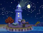 Faro Wii de noche
